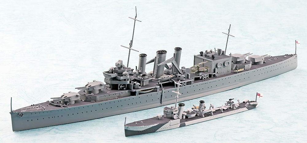 英国海軍 重巡洋艦 コーンウォール インド洋 セイロン沖海戦プラモデル(アオシマ1/700 ウォーターラインシリーズNo.056721)商品画像_2