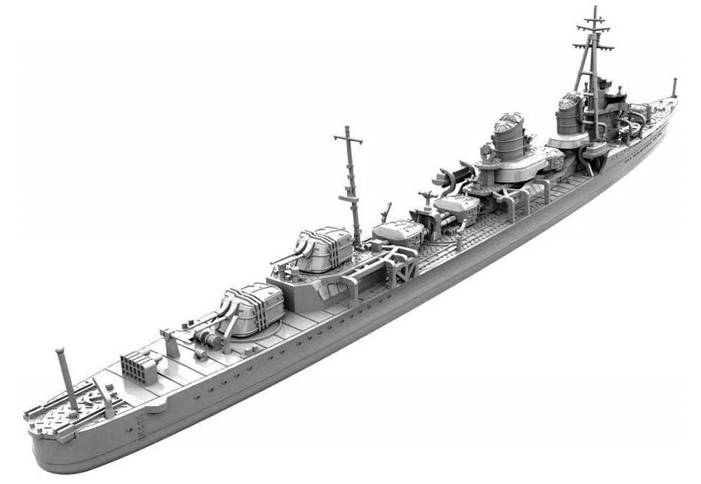 特型駆逐艦1型改 浦波 1941プラモデル(ヤマシタホビー1/700 艦艇模型シリーズNo.NV010)商品画像_3