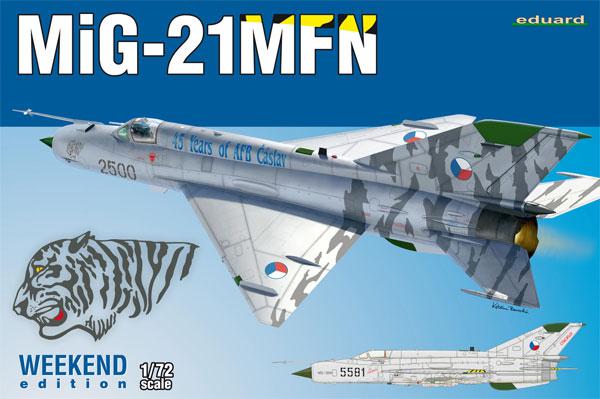 MiG-21MFNプラモデル(エデュアルド1/72 ウィークエンド エディションNo.7452)商品画像
