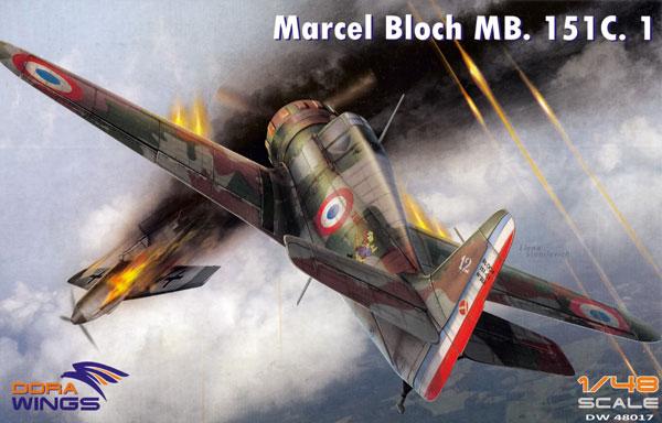 ブロック MB.151C.1プラモデル(ドラ ウイングス1/48 エアクラフト プラモデルNo.DW48017)商品画像