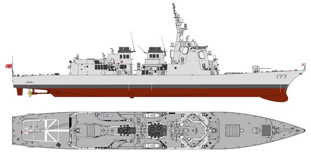 海上自衛隊 イージス護衛艦 DDG-177 あたご 新装備パーツ付きプラモデル(ピットロード1/700 スカイウェーブ J シリーズNo.J055SP)商品画像_1