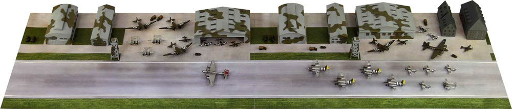 WW2 アメリカ陸軍 航空隊基地プラモデル(ピットロードスカイウェーブ S シリーズNo.SPS001)商品画像_1