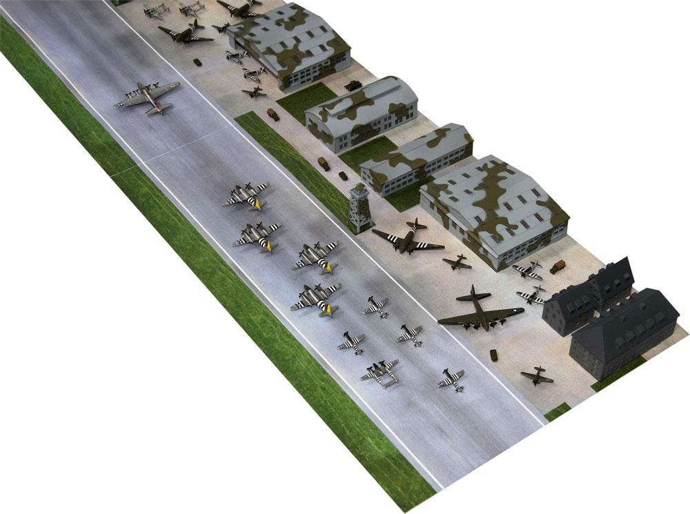 WW2 アメリカ陸軍 航空隊基地プラモデル(ピットロードスカイウェーブ S シリーズNo.SPS001)商品画像_2