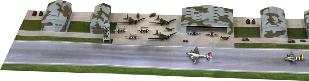 WW2 アメリカ陸軍 航空隊基地プラモデル(ピットロードスカイウェーブ S シリーズNo.SPS001)商品画像_4