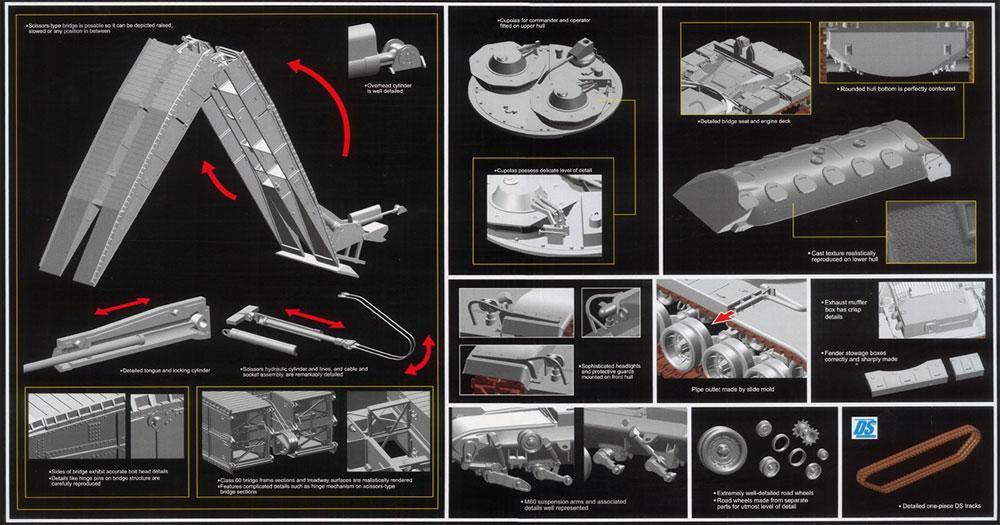 アメリカ M60 AVLB 架橋戦車 2 in 1プラモデル(ドラゴン1/35 Modern AFV SeriesNo.3591)商品画像_2