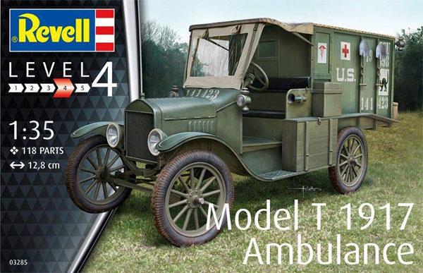 T型フォード 1917 救急車プラモデル(レベル1/35 ミリタリーNo.03285)商品画像