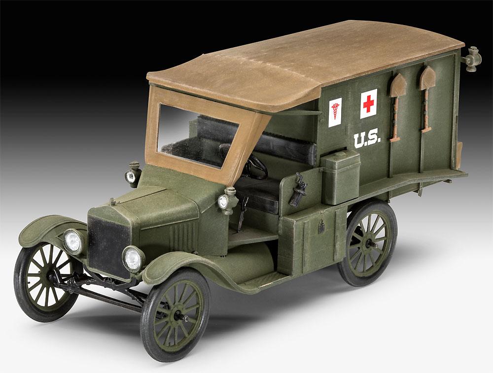 T型フォード 1917 救急車プラモデル(レベル1/35 ミリタリーNo.03285)商品画像_1