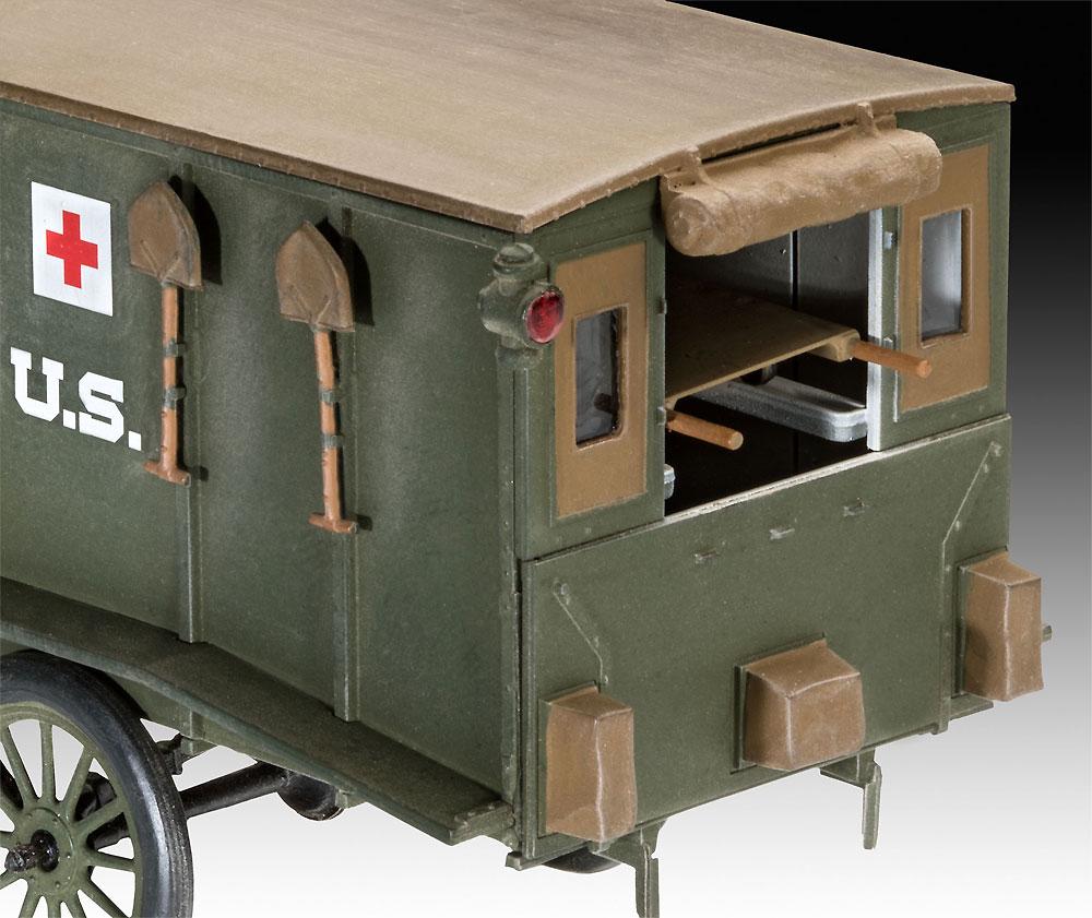 T型フォード 1917 救急車プラモデル(レベル1/35 ミリタリーNo.03285)商品画像_3