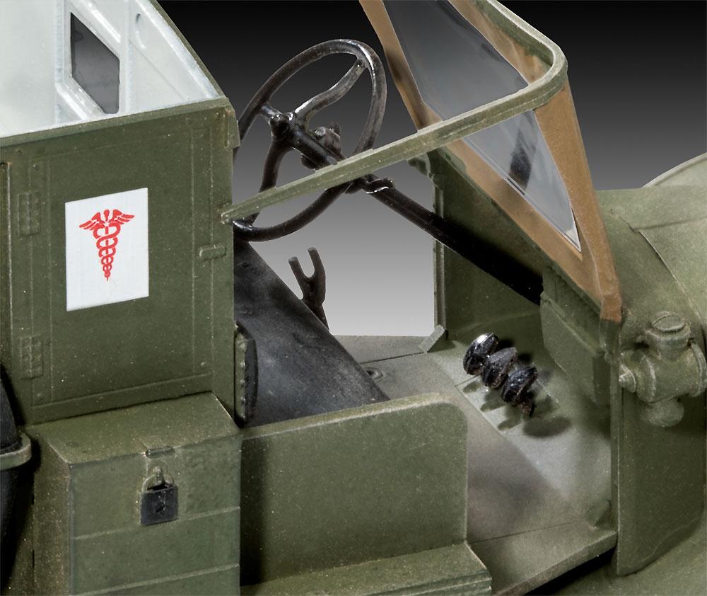 T型フォード 1917 救急車プラモデル(レベル1/35 ミリタリーNo.03285)商品画像_4