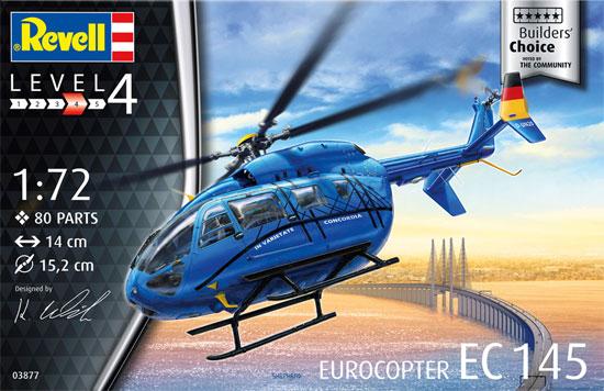 ユーロコプター EC145プラモデル(レベル1/72 飛行機No.03877)商品画像