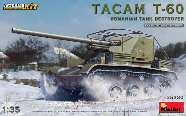 ルーマニア タカム T-60 駆逐戦車 フルインテリアプラモデル(ミニアート1/35 WW2 ミリタリーミニチュアNo.35230)商品画像