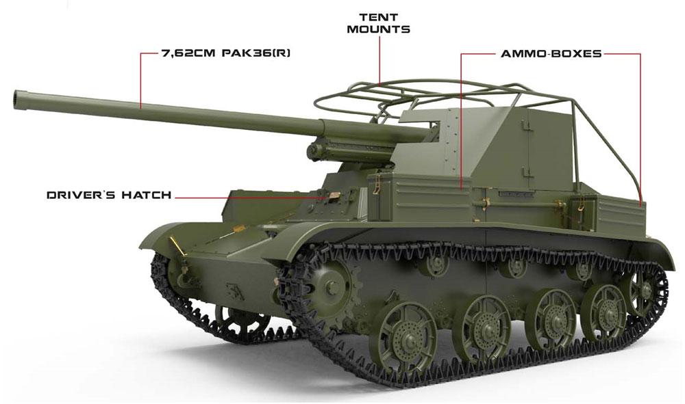 ルーマニア タカム T-60 駆逐戦車 フルインテリアプラモデル(ミニアート1/35 WW2 ミリタリーミニチュアNo.35230)商品画像_1