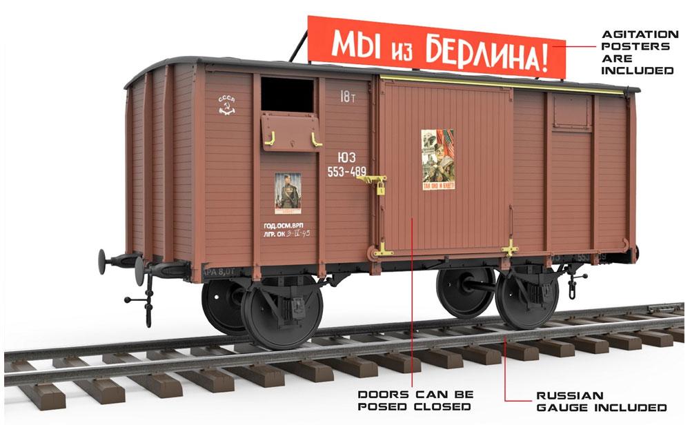 ソビエト ストーブ貨車 テブラシュカプラモデル(ミニアート1/35 WW2 ミリタリーミニチュアNo.35300)商品画像_1