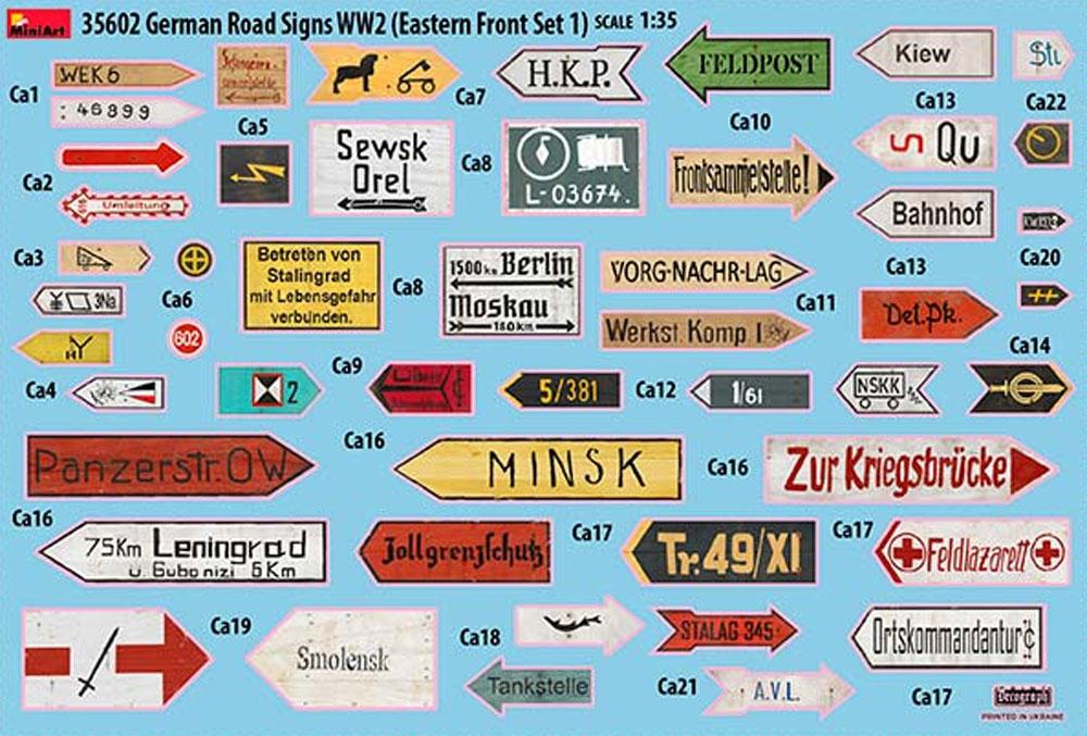 ドイツ 道路標識 WW2 東部戦線セット 1プラモデル(ミニアート1/35 ビルディング&アクセサリー シリーズNo.35602)商品画像_2