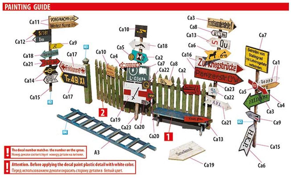 ドイツ 道路標識 WW2 東部戦線セット 1プラモデル(ミニアート1/35 ビルディング&アクセサリー シリーズNo.35602)商品画像_3