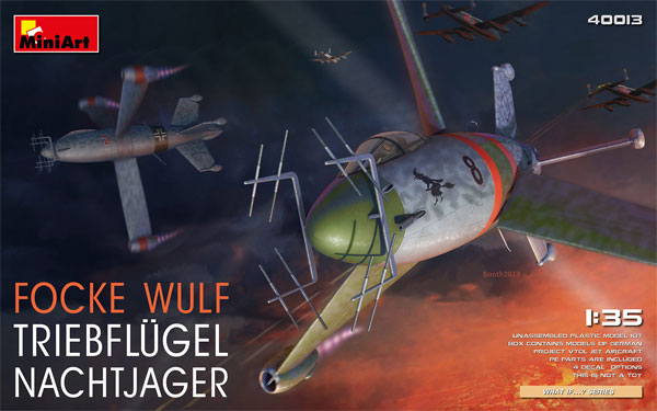 フォッケウルフ トリープフリューゲル 夜間戦闘機プラモデル(ミニアートWhat ifNo.40013)商品画像