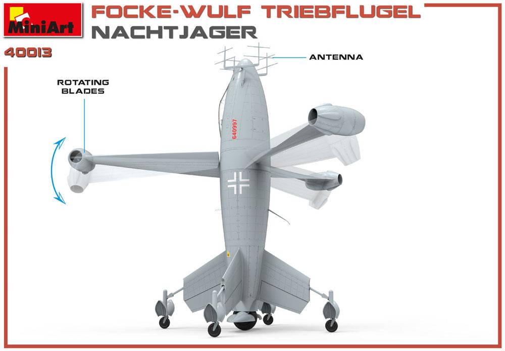フォッケウルフ トリープフリューゲル 夜間戦闘機プラモデル(ミニアートWhat ifNo.40013)商品画像_1