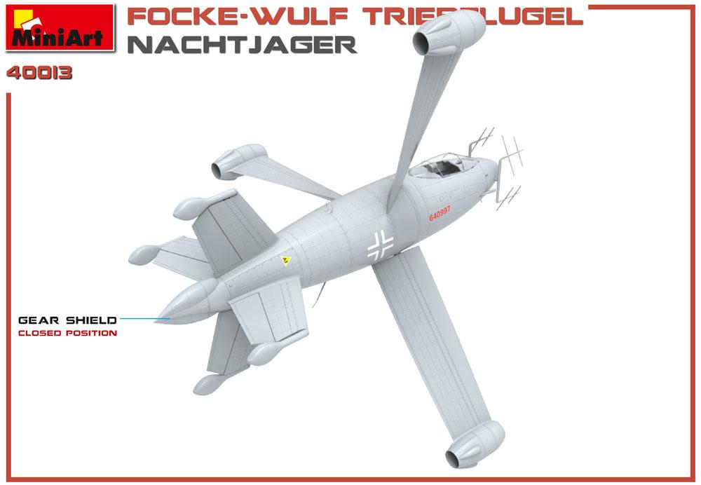 フォッケウルフ トリープフリューゲル 夜間戦闘機プラモデル(ミニアートWhat ifNo.40013)商品画像_2