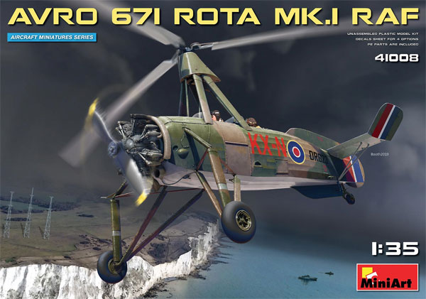 アブロ 671 ロータ Mk.1 RAFプラモデル(ミニアートエアクラフトミニチュアシリーズNo.41008)商品画像