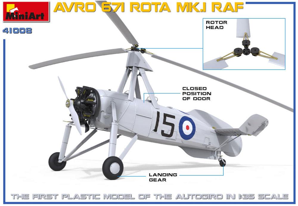 アブロ 671 ロータ Mk.1 RAFプラモデル(ミニアートエアクラフトミニチュアシリーズNo.41008)商品画像_1