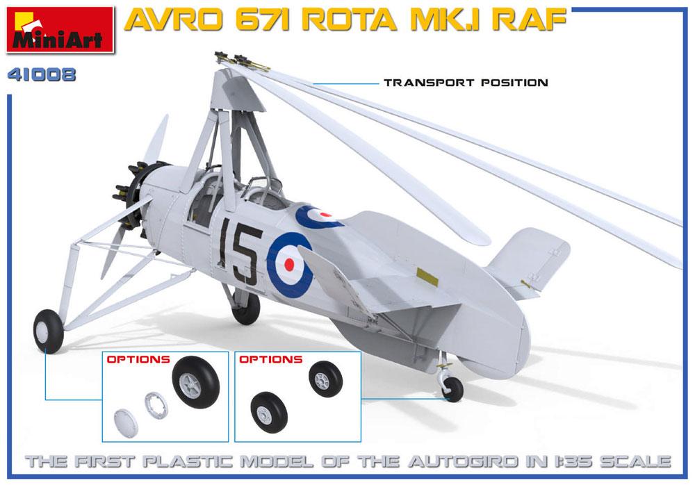 アブロ 671 ロータ Mk.1 RAFプラモデル(ミニアートエアクラフトミニチュアシリーズNo.41008)商品画像_2