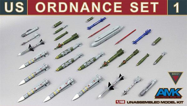 アメリカ 武装セット 1プラモデル(AMK1/48 Aircrafts seriesNo.88E01)商品画像