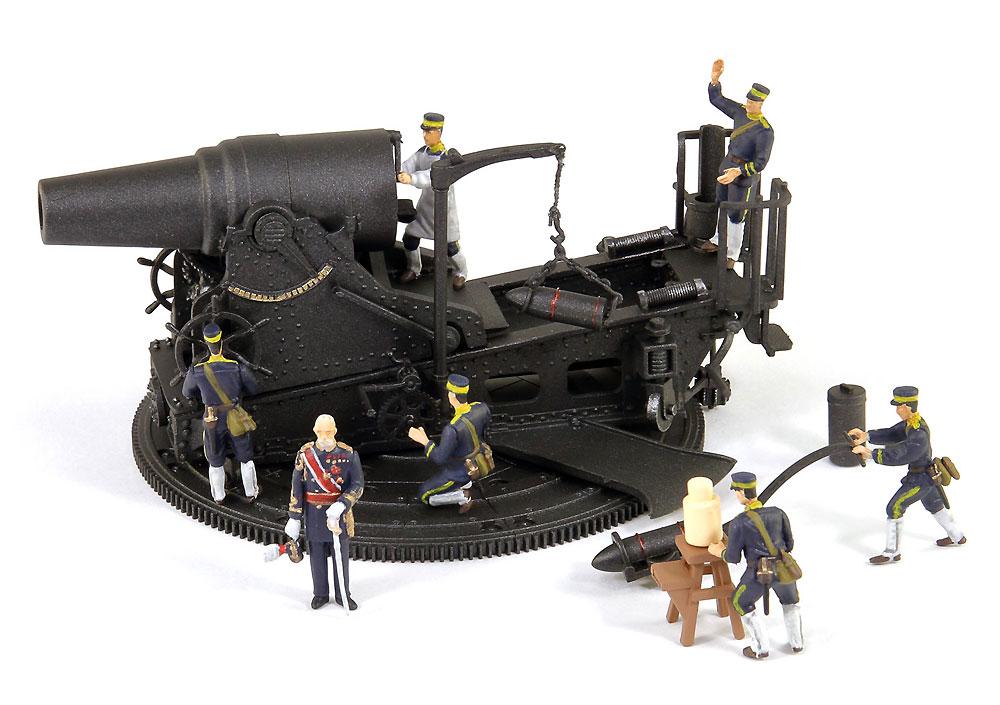 日本陸軍 28糎榴弾砲 乃木将軍、砲兵6体付き (ピットロード 1/72 スモールグランドアーマーシリーズ SG14) の商品画像