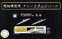 フジミ1/700 艦船模型用グレードアップパーツ日本海軍 重巡洋艦 鳥海 エッチングパーツ & 艦名プレート