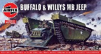 エアフィックス1/76 ミリタリーウォーターバッファロー & ウイリス MB ジープ