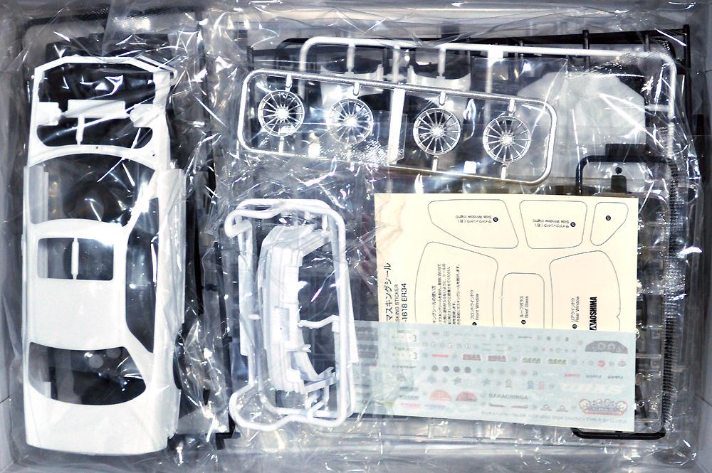 URAS ER34 スカイライン TYPE-R '01 (ニッサン)プラモデル(アオシマ1/24 ザ・チューンドカーNo.004)商品画像_1