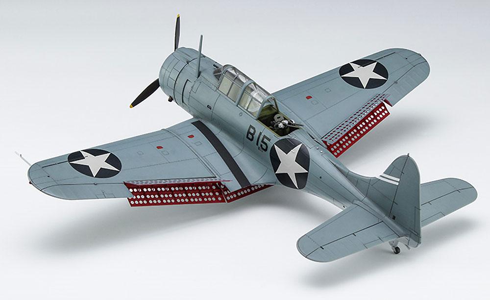 SBD-3 ドーントレス ミッドウェー海戦プラモデル(ハセガワ1/48 飛行機 限定生産No.07481)商品画像_2