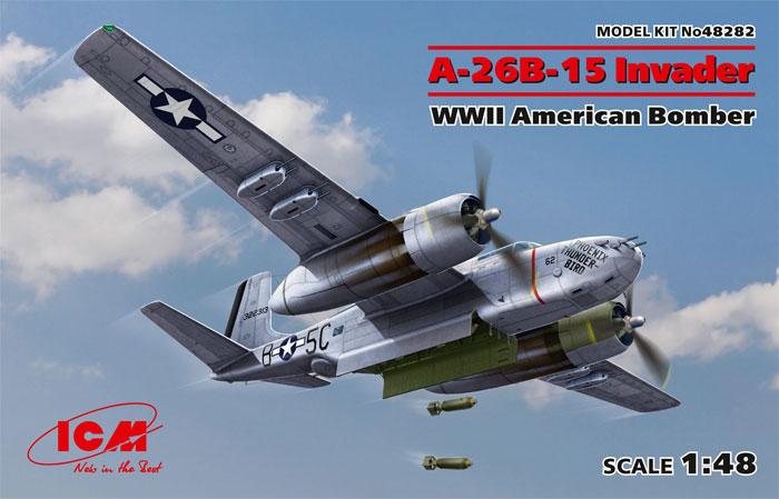 A-26B-15 インベーダープラモデル(ICM1/48 エアクラフト プラモデルNo.48282)商品画像