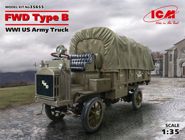 FWD Type B WW1 アメリカ陸軍 トラックプラモデル(ICM1/35 ミリタリービークル・フィギュアNo.35655)商品画像
