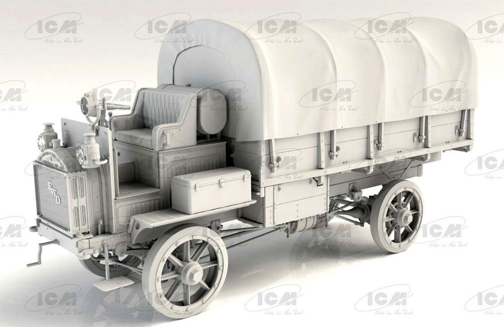 FWD Type B WW1 アメリカ陸軍 トラックプラモデル(ICM1/35 ミリタリービークル・フィギュアNo.35655)商品画像_2