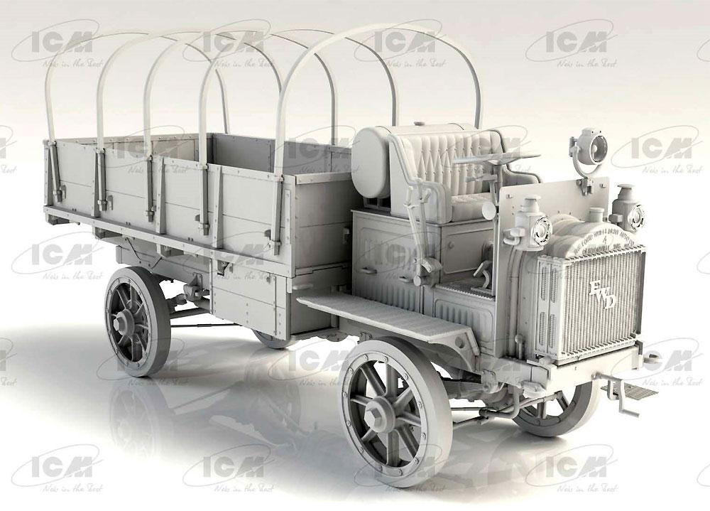 FWD Type B WW1 アメリカ陸軍 トラックプラモデル(ICM1/35 ミリタリービークル・フィギュアNo.35655)商品画像_4