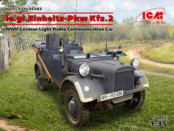 ドイツ le.gl. Pkw Kfz.2 軽四輪駆動 無線搭載車プラモデル(ICM1/35 ミリタリービークル・フィギュアNo.35583)商品画像