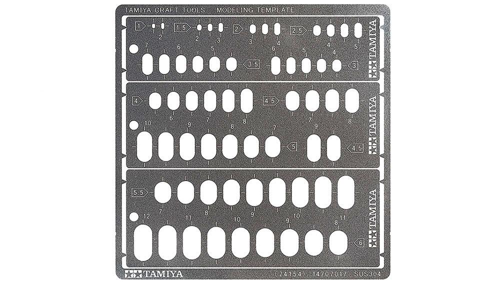 モデリングテンプレート 長円 1-6mmテンプレート(タミヤタミヤ クラフトツールNo.74154)商品画像_1