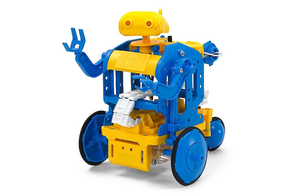 チェーンプログラムロボット 工作セット (ブルー/イエロー)工作キット(タミヤ楽しい工作シリーズNo.69931)商品画像_2