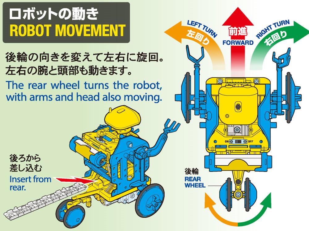 チェーンプログラムロボット 工作セット (ブルー/イエロー)工作キット(タミヤ楽しい工作シリーズNo.69931)商品画像_4