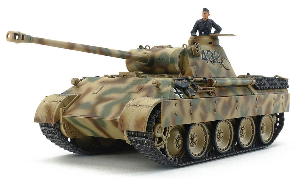 ドイツ戦車 パンサー D型プラモデル(タミヤ1/48 ミリタリーミニチュアシリーズNo.097)商品画像_2