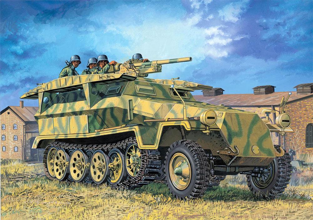 Sd.Kfz.251 Ausf.C w/3.7cm PaK36 (2in1)プラモデル(ドラゴン1/72 ARMOR PRO (アーマープロ)No.7606)商品画像_3