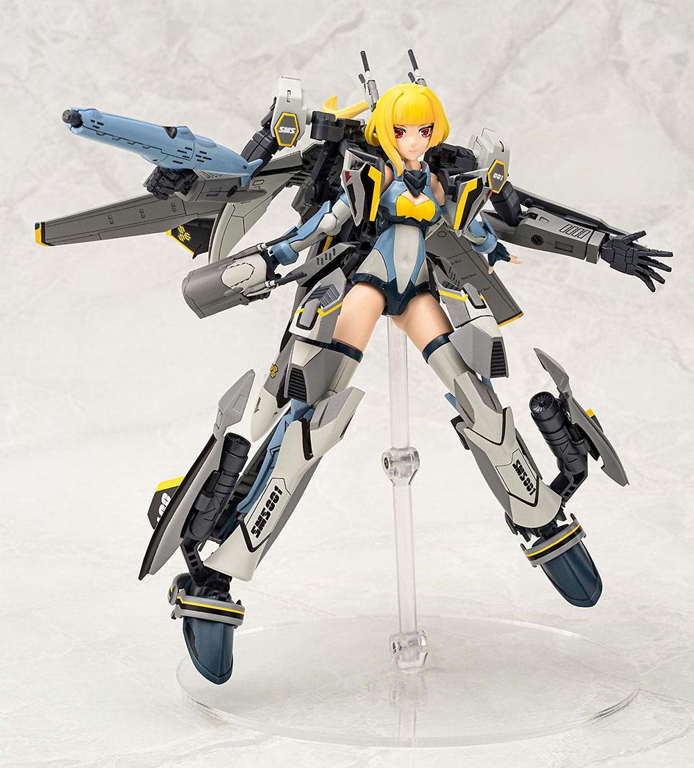 ヴァリアブルファイターガールズ マクロスF VF-25S メサイアプラモデル(アオシマACKS (アオシマ キャラクターキット セレクション)No.MC-006)商品画像_1