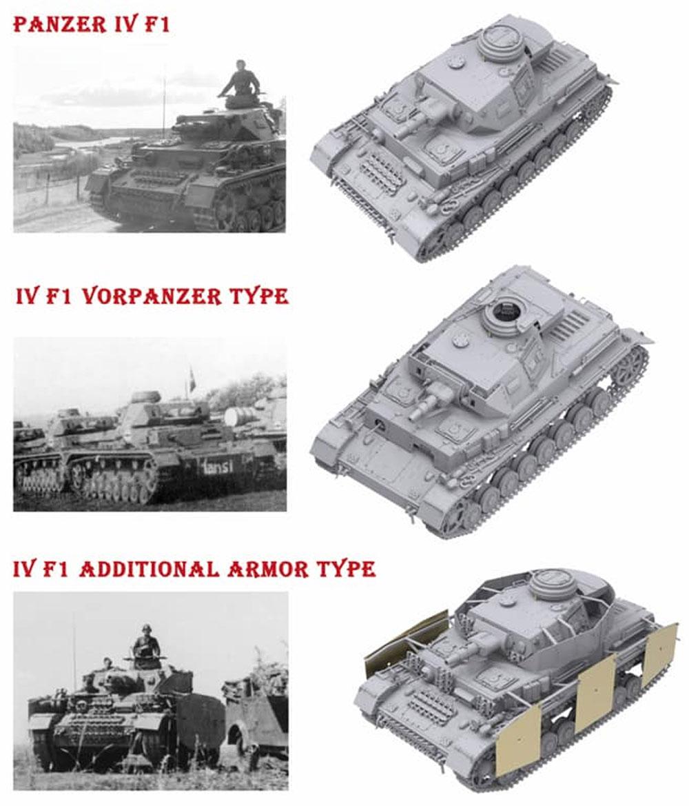 ドイツ 4号戦車 F1型 フォアパンツァー & シュルツェン 3in1プラモデル(ボーダーモデル1/35 ミリタリーNo.BT-003)商品画像_3