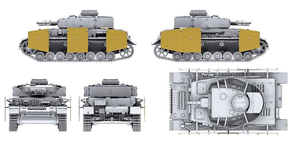 ドイツ 4号戦車 F1型 フォアパンツァー & シュルツェン 3in1プラモデル(ボーダーモデル1/35 ミリタリーNo.BT-003)商品画像_4