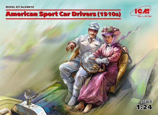 アメリカンスポーツカー 女性ドライバー & 紳士 1910年代プラモデル(ICM1/24 カーモデルNo.24014)商品画像