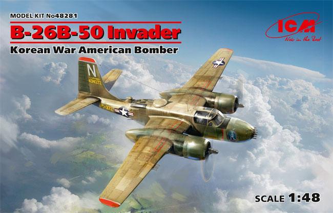 B-26B-50 インベーダー コリアンウォープラモデル(ICM1/48 エアクラフト プラモデルNo.48281)商品画像