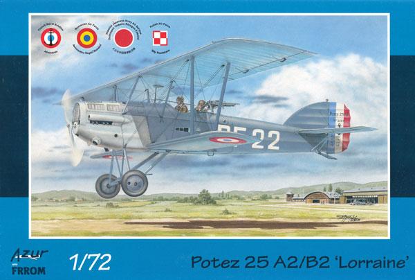 ポテーズ 25 A2/B2 ロレーヌ 12Eb エンジン搭載機プラモデル(アズール1/72 航空機モデルNo.FR0037)商品画像
