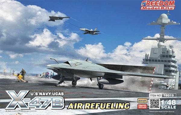 アメリカ海軍 無人戦闘航空システム X-47B 空中給油機型プラモデル(フリーダムモデル1/48 エアクラフト プラモデルNo.18019)商品画像