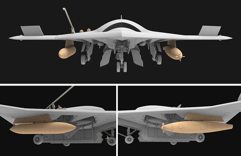 アメリカ海軍 無人戦闘航空システム X-47B 空中給油機型プラモデル(フリーダムモデル1/48 エアクラフト プラモデルNo.18019)商品画像_3