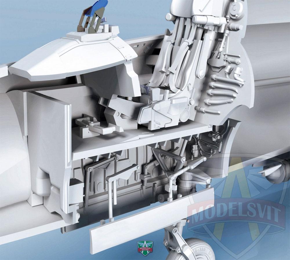 スホーイ Su-17M3 フィッター 可変翼戦闘爆撃機 初期型 w/ミサイルプラモデル(モデルズビット1/72 エアクラフト プラモデルNo.72044)商品画像_4
